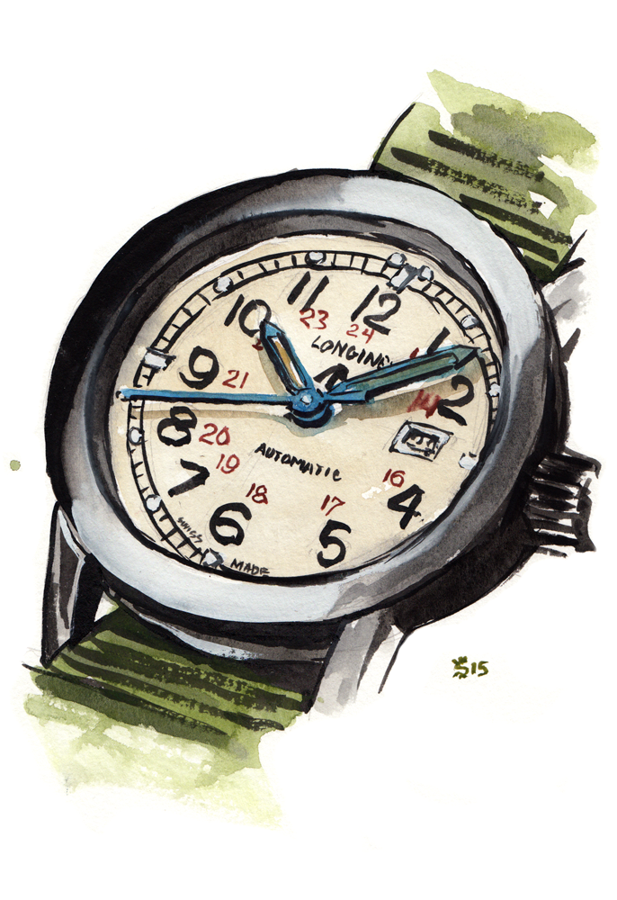 Longines Military COSD watch face