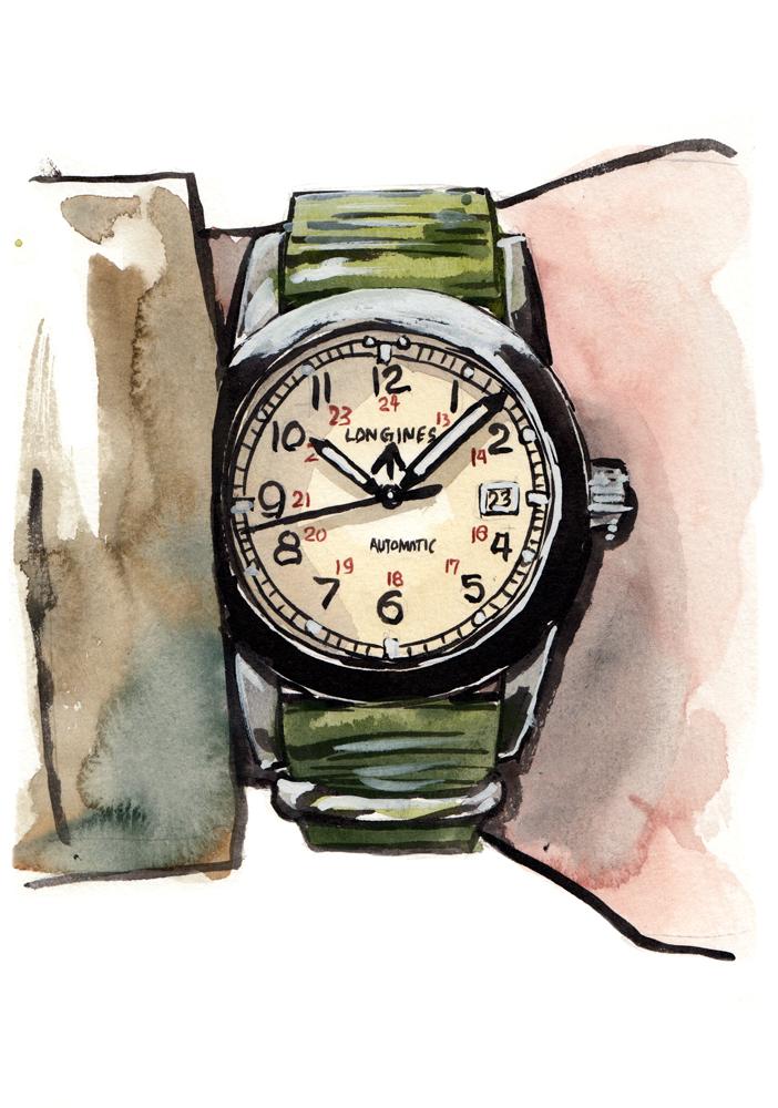 Longines Heritage Military on the wrist