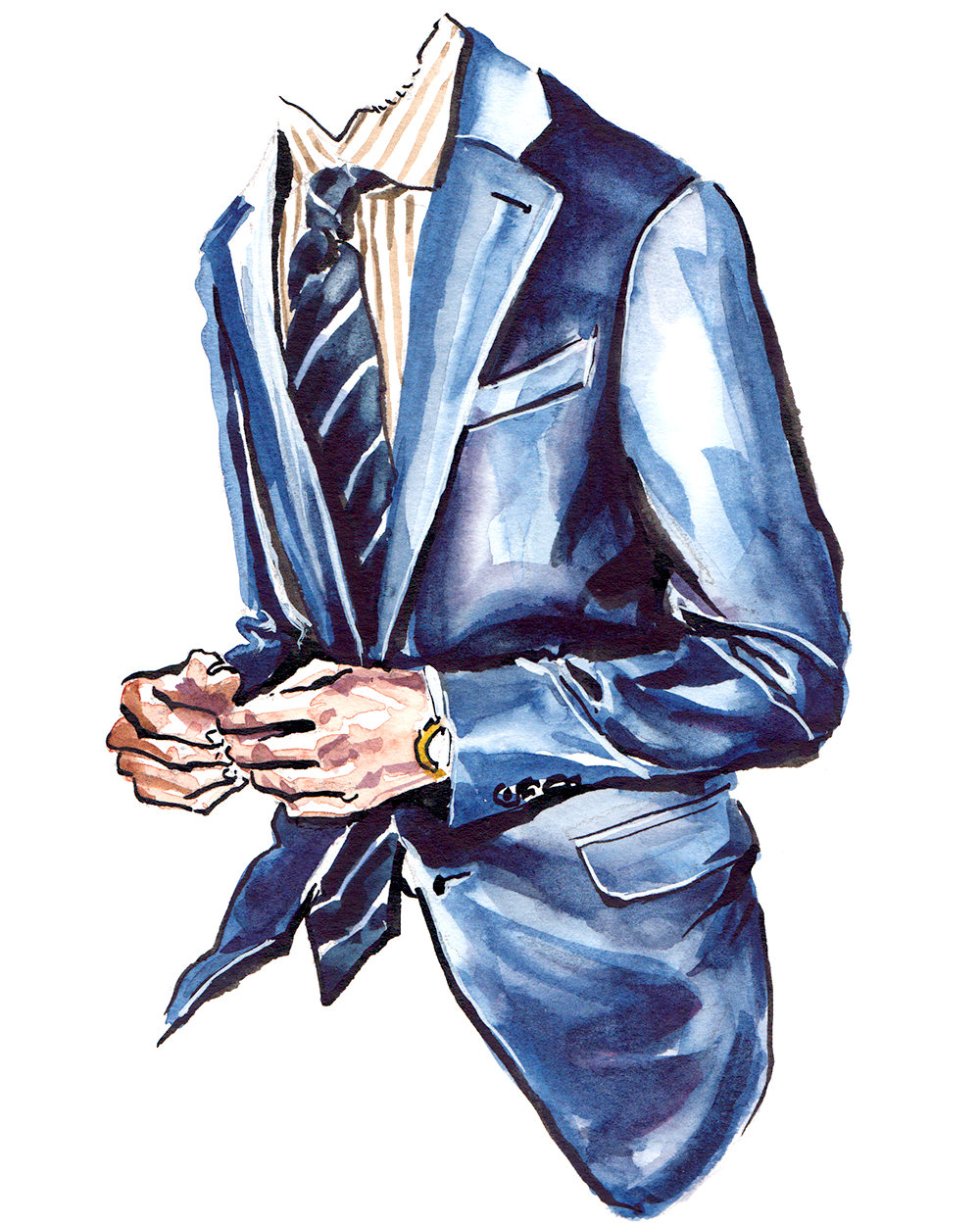 Zegna Suit Menswear Illustration