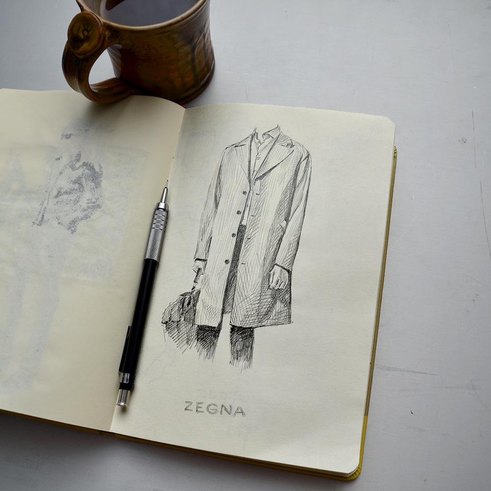 Ermenegildo Zegna sketch
