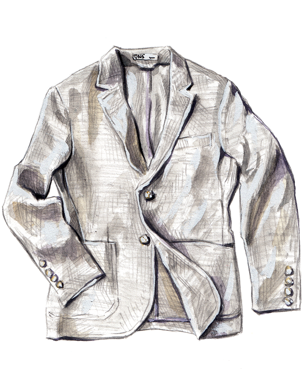 ONS Clothing linen jacket grey
