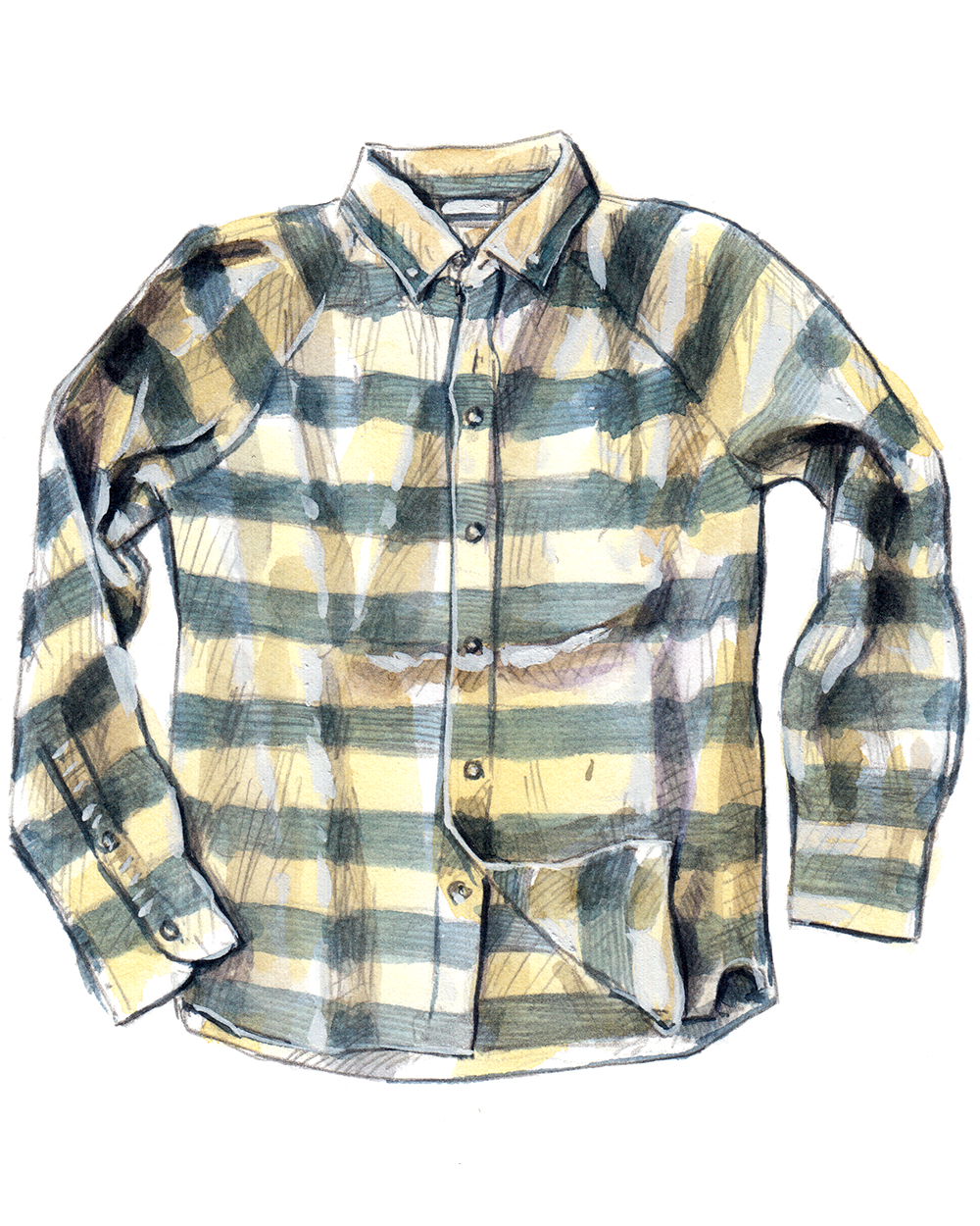 ONS Clothing linen shirt with raglan sleeves