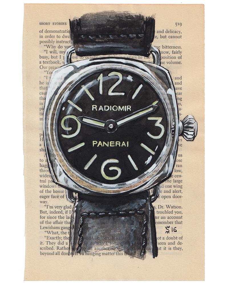 Panerai Radiomir watch painting