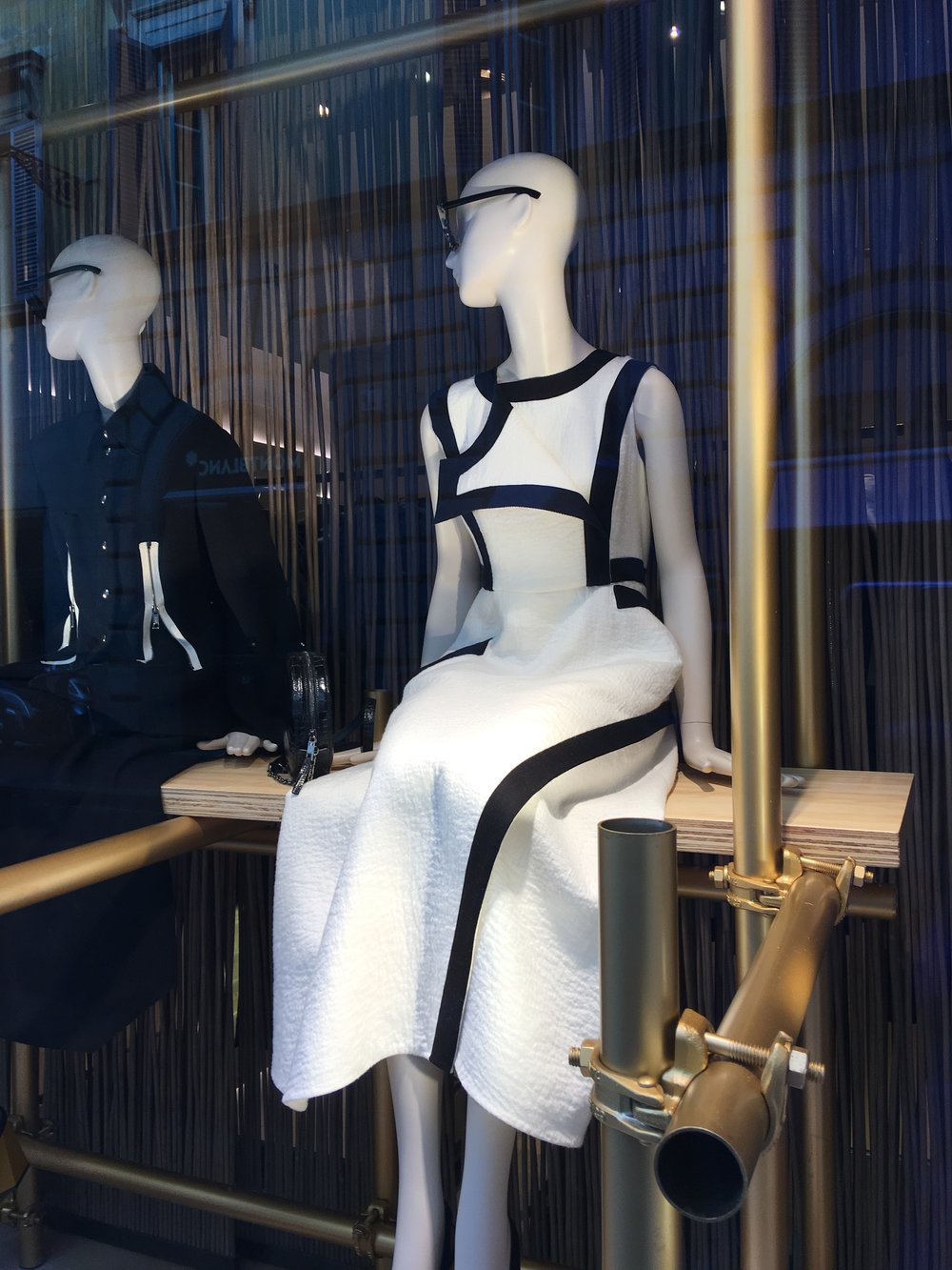 Max Mara window display in Rome, near the Spanish Steps