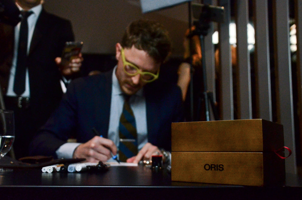 Painting at the Oris booth at Baselworld