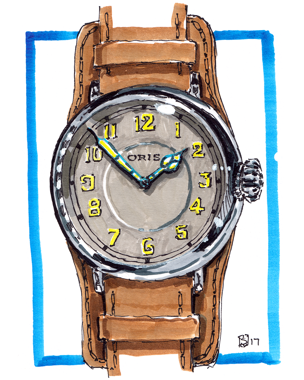 Oris Big Crown 1917 Baselworld painting