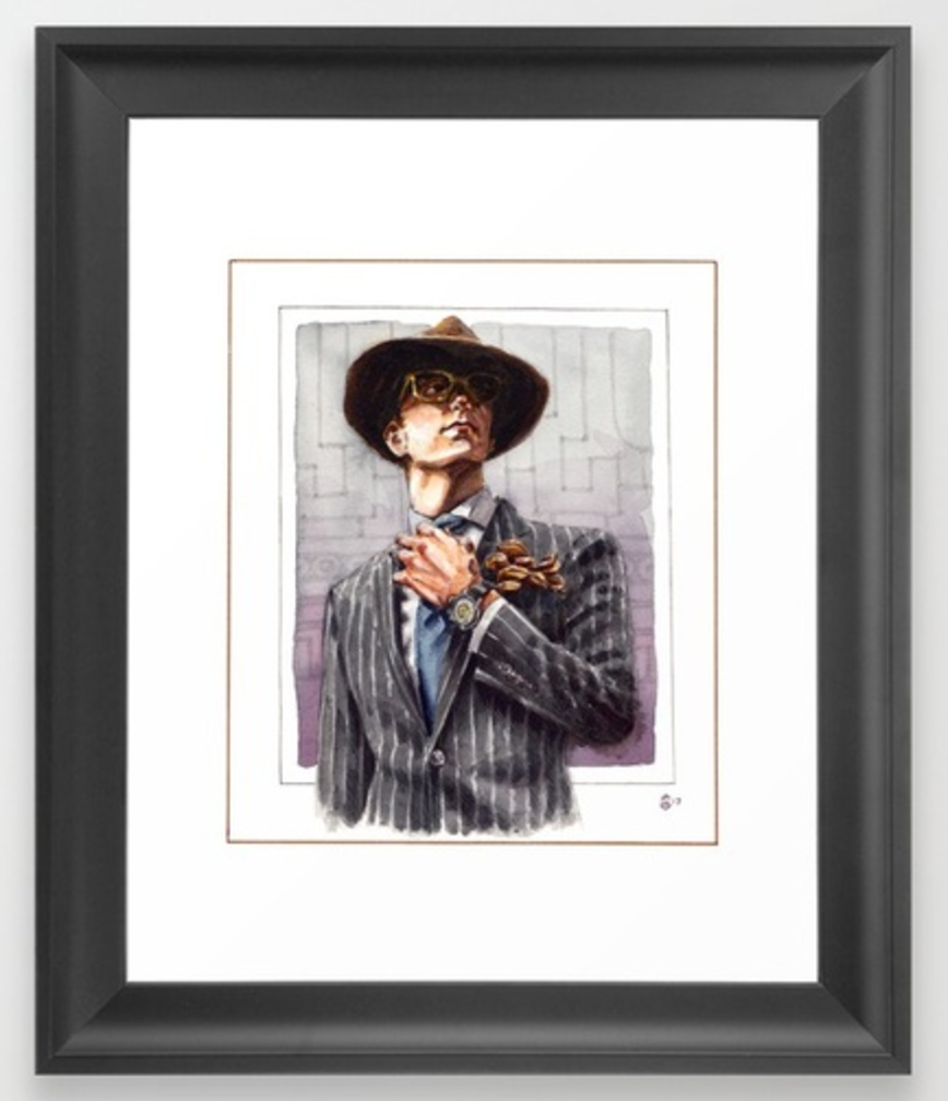 Art Print of a dapper, well dress gentleman