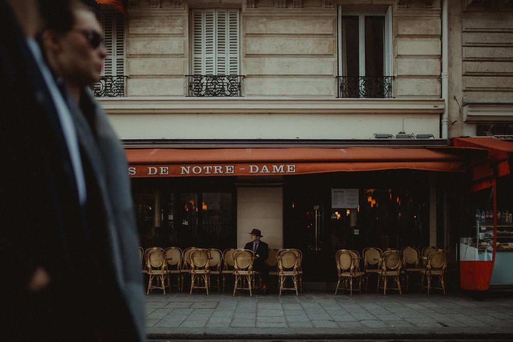 Sunflowerman café sitting in Paris, France. Photo by  Leigh Ann Cobb Photography.