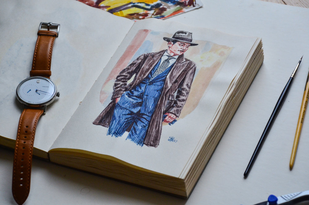 Photo of Sunflowerman's men's fashion illustration sketchbook