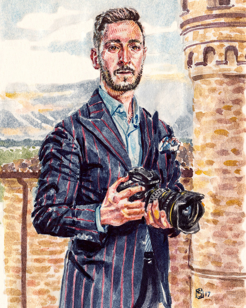 Fabrizio di Paolo fashion illustration portrait