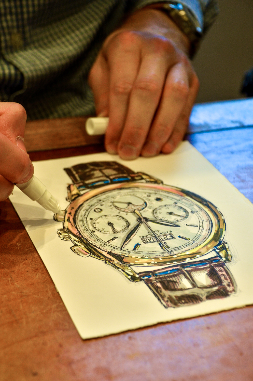 Patek Philippe painting at Fratelli Piccini