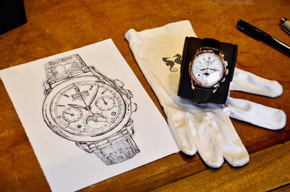 Patek Philippe pen drawing