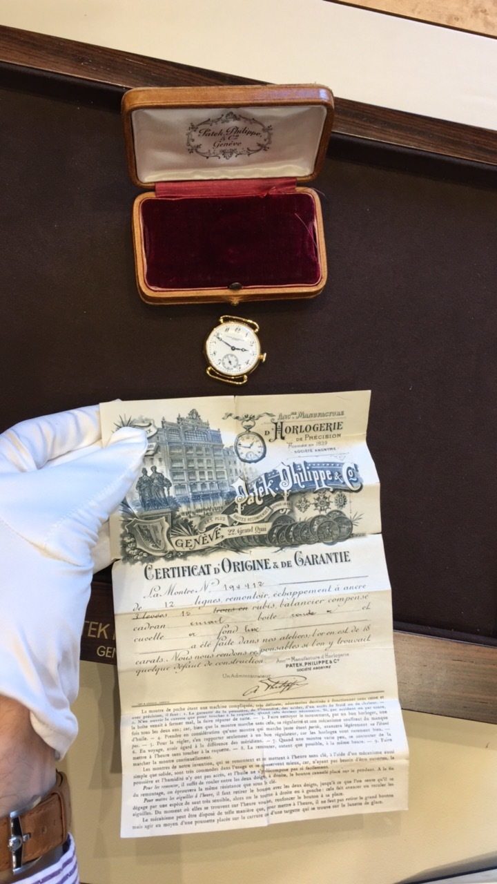 Vintage Patek Philippe circa 1920 with original Certificate of Origin