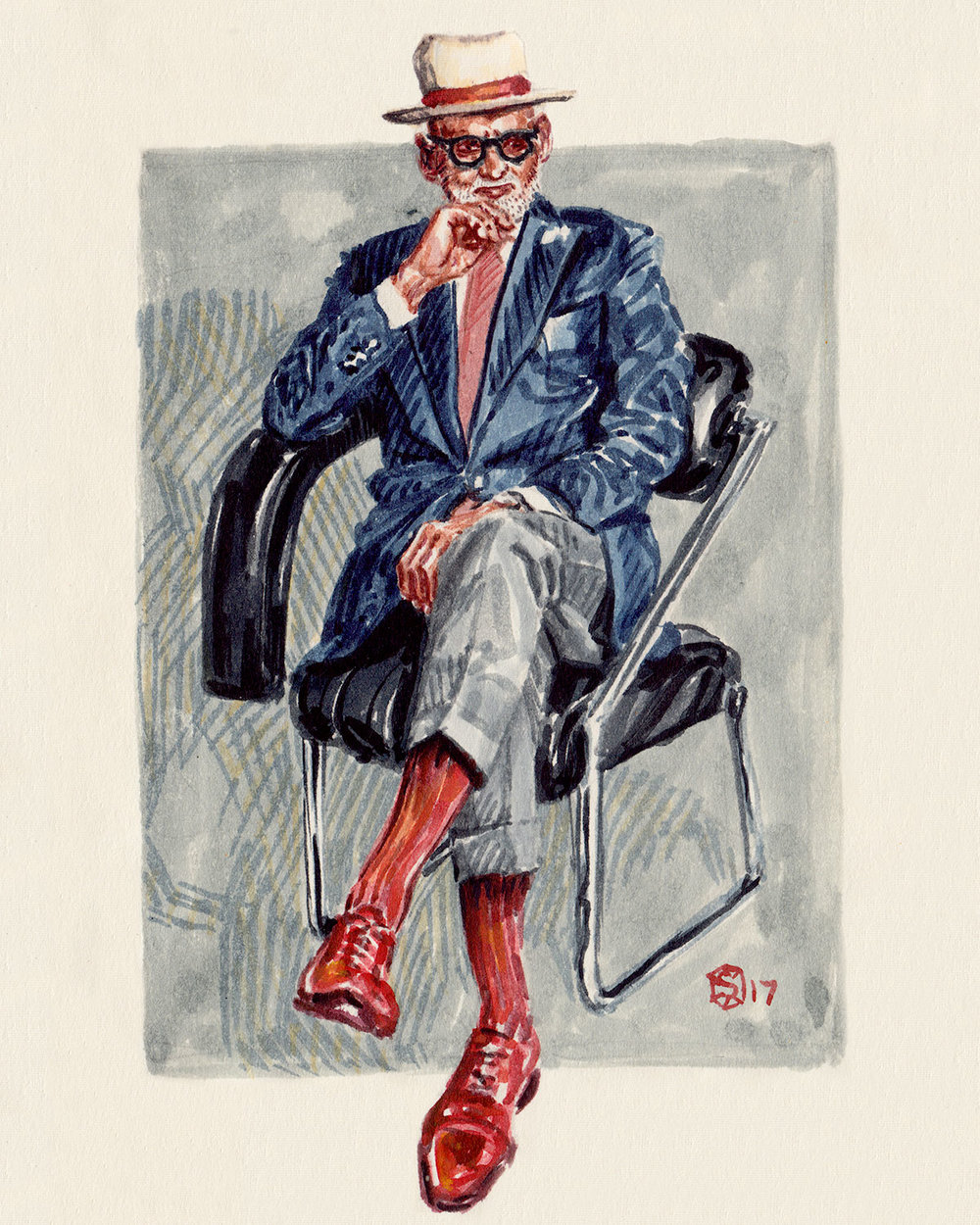 Men's Fashion Illustration of Ignatious Joseph