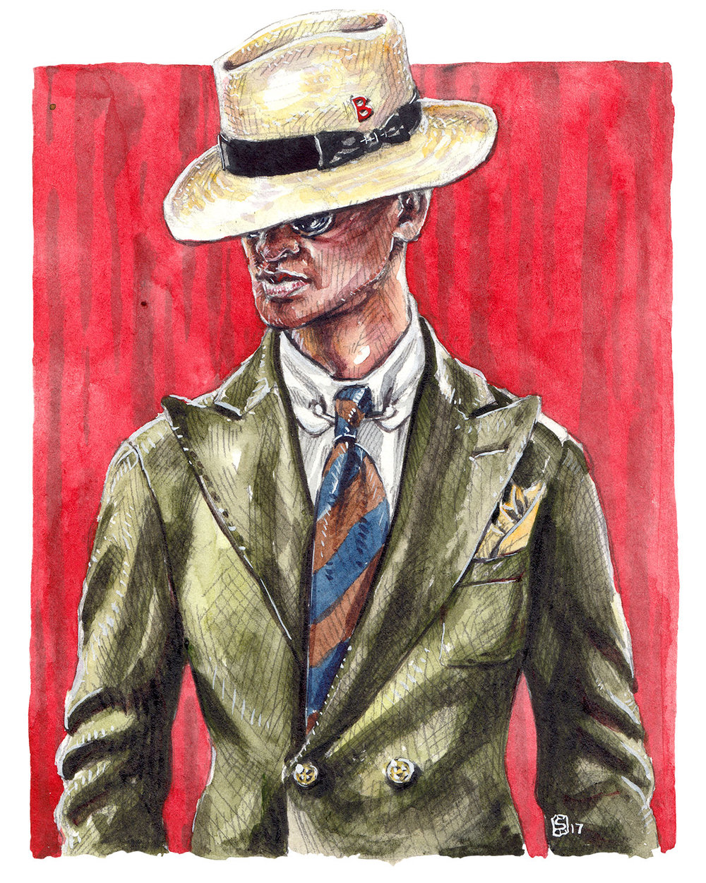 My Bob - Panama Hat Promo Illustration