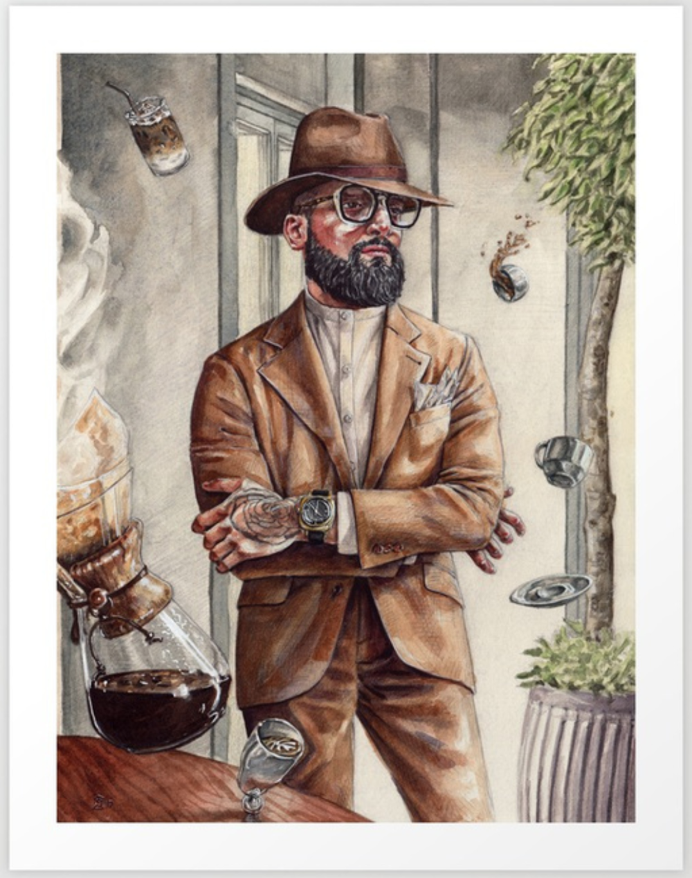 Buy A Print of The Coffee King - Prints on Society6