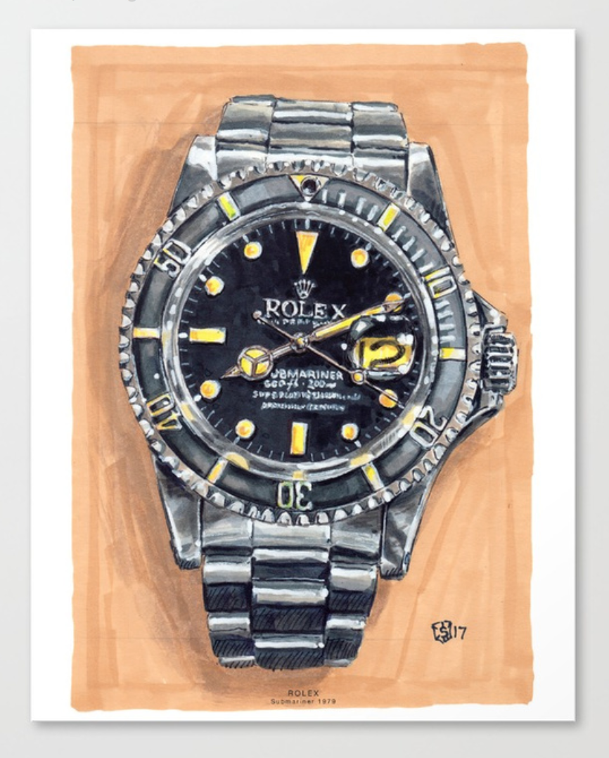 Buy a Print of the Rolex Submariner - Prints on Society6