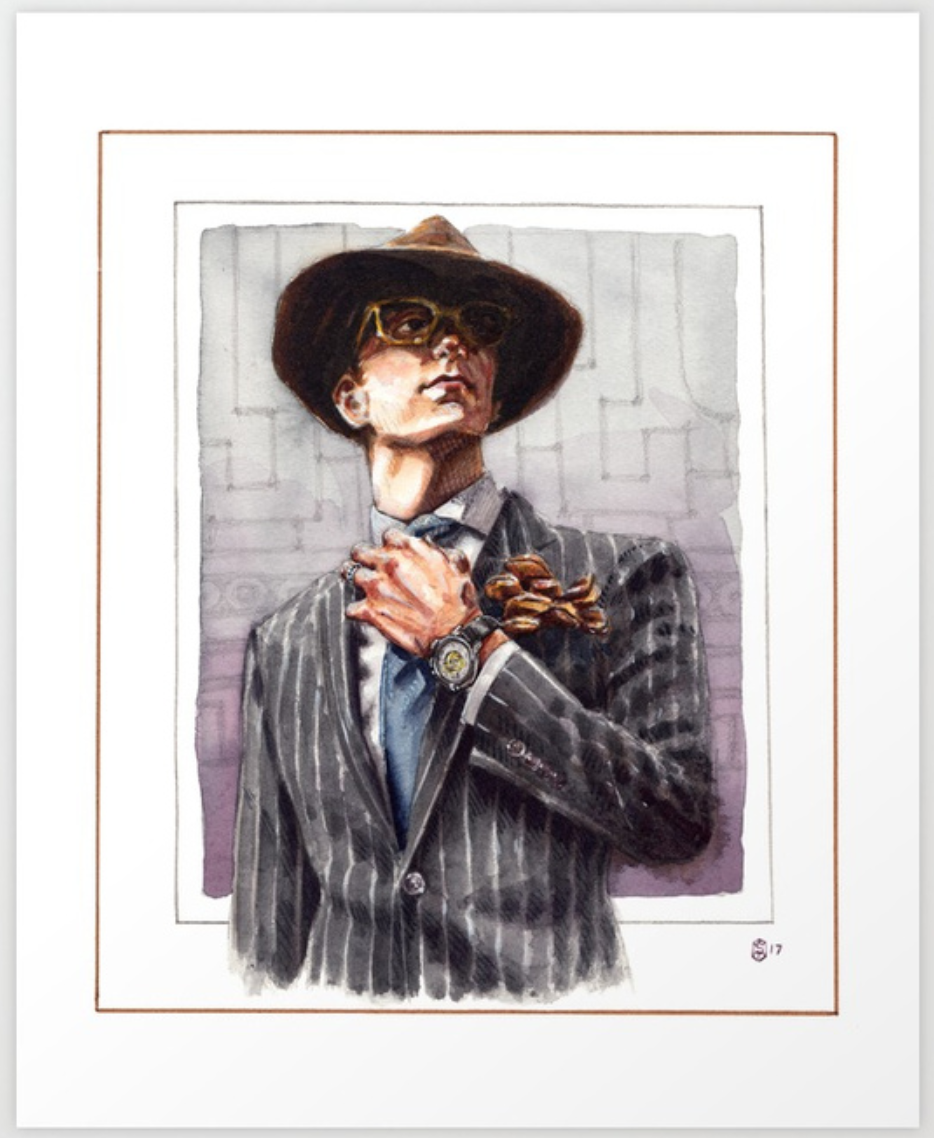 Purchase Print of The Dapper Man - Prints on Society6