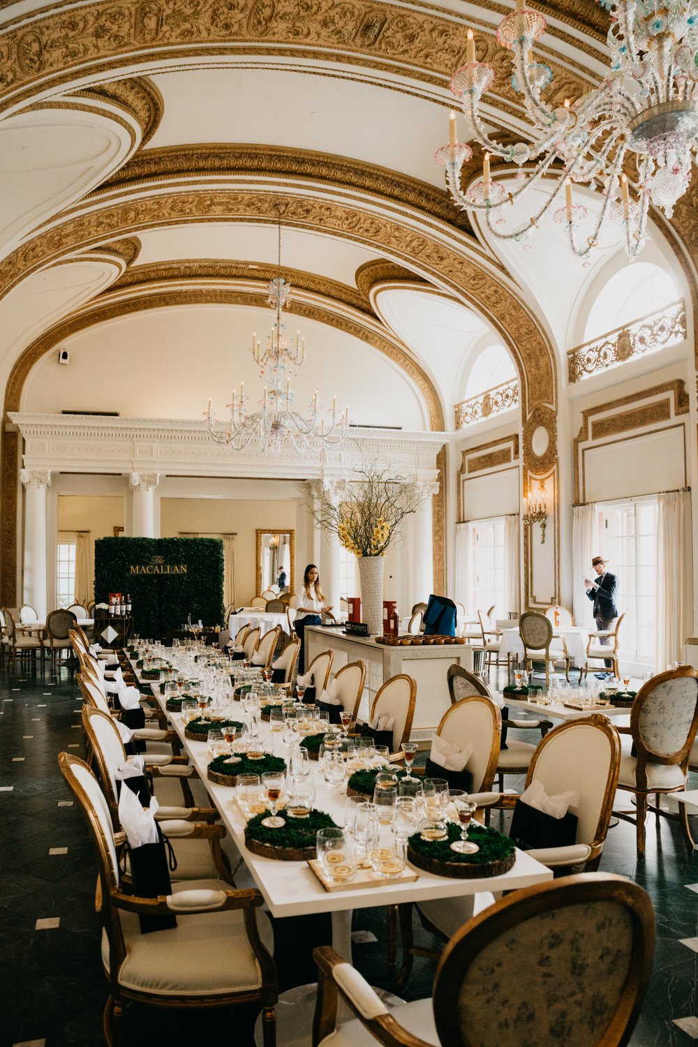 The French Room inside the Adolphus Hotel in Dallas, TX. photo by Collin Sansom