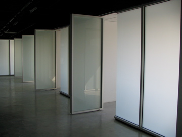 Frosted Laminated Glass Partition Wall.  Massage Institute Garfield, NJ