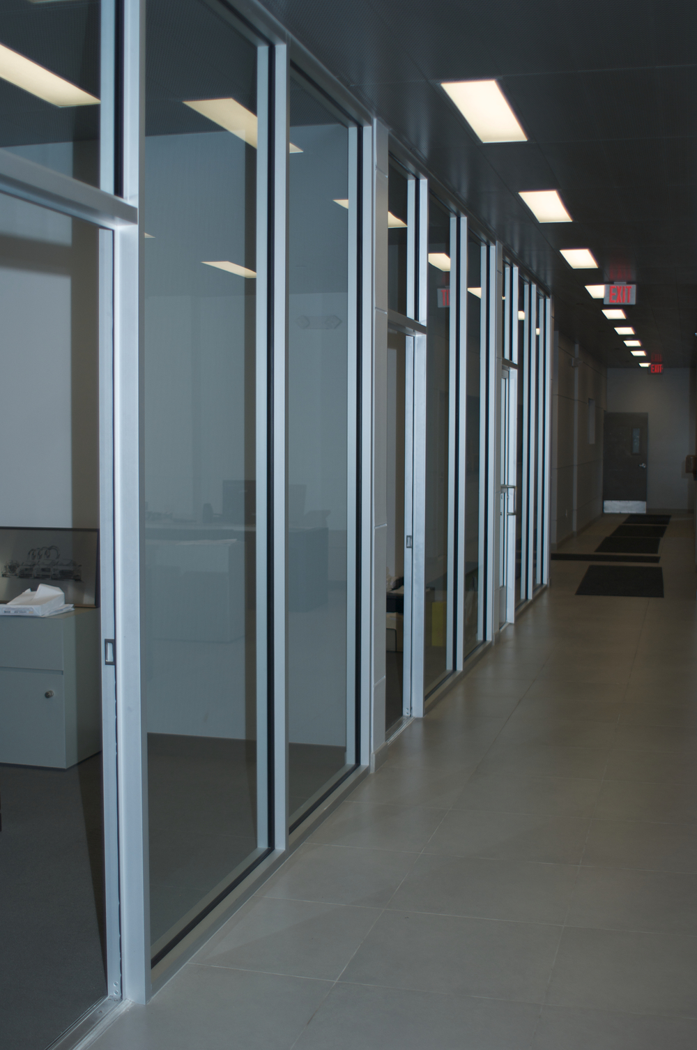 Architectural glass aluminum installation acsm Office partition walls with doors