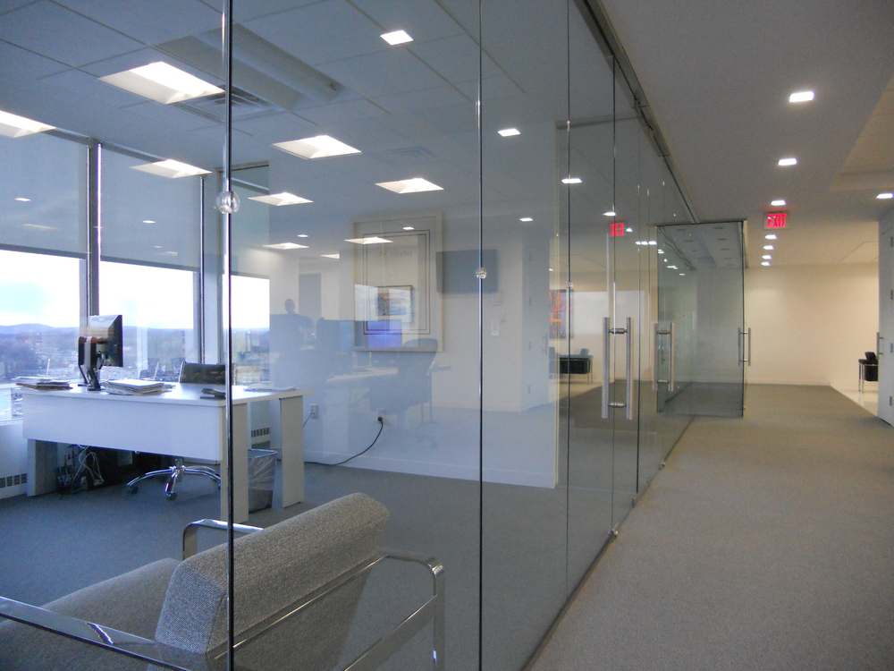 Door window and glass repair acsm Office partition walls with doors