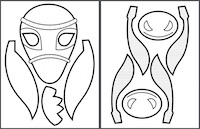 Click to download and print the PDF template. Each template contains the pattern for 2 donkey masks.