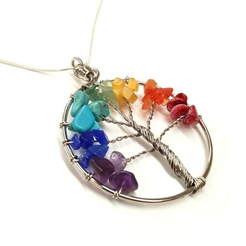 Stone Tree of Life Necklace - Peru — Fair & Square Imports