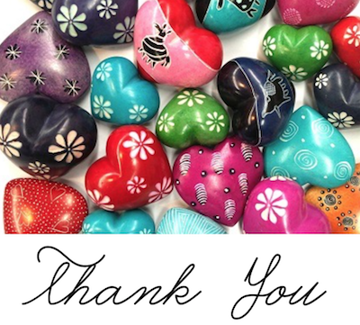 Great fair trade thank you gifts for teachers, volunteers, or hosts / hostesses of a dinner party, to show appreciation.