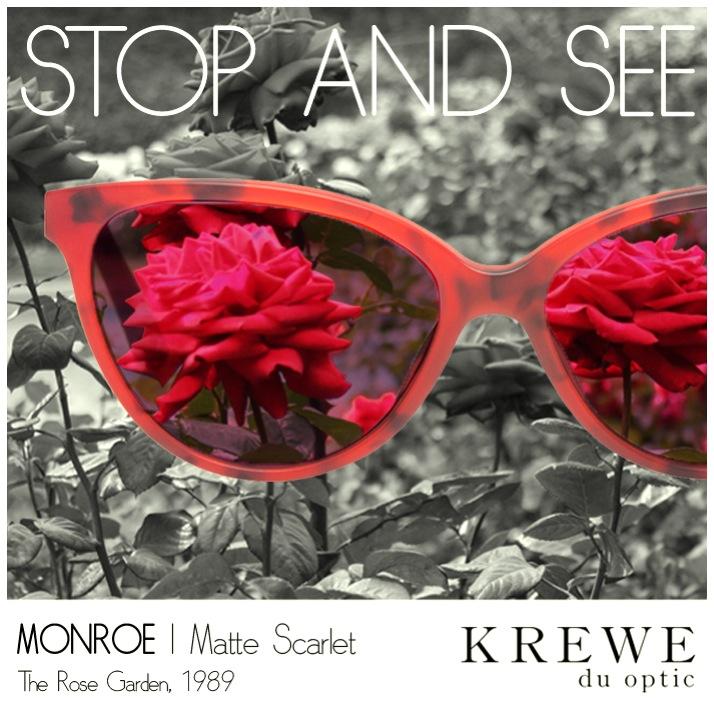 Beauty is behind the glass of the beholder. #KREWEduoptic #Monroe #NOLArosegarden