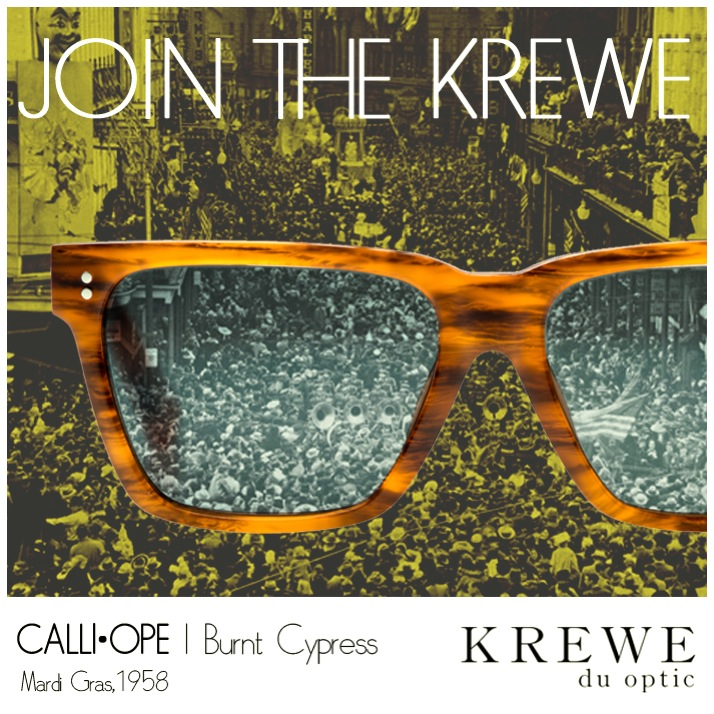 See the greatest Spectacles! Face the crowd in classic frames. #KREWEduoptic #Calliope #MardiGras