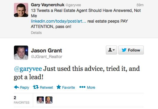 Here's an example of a high value, high quality Twitter post from Gary Vaynerchuk.