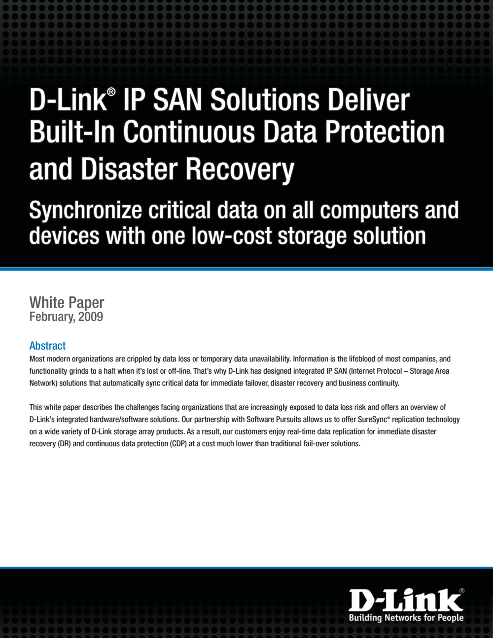 D-Link IP-SAN Suresync solution brief-1.png
