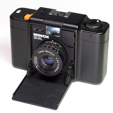 a Minox 35 ML  shirtpocket  35-millimeter camera
