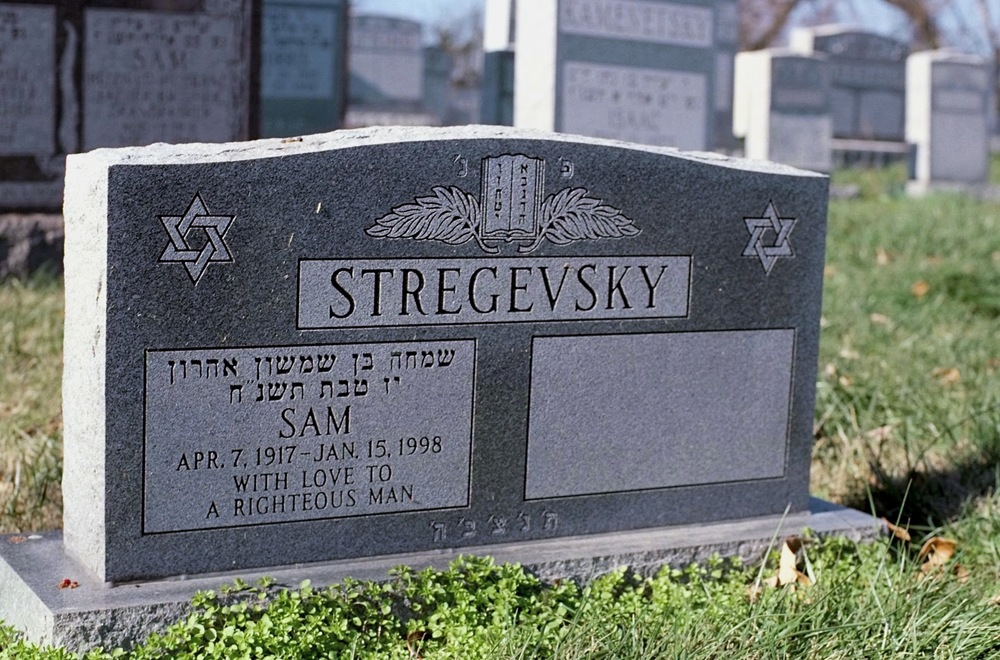 Sam's tombstone in Cincinnati, Ohio