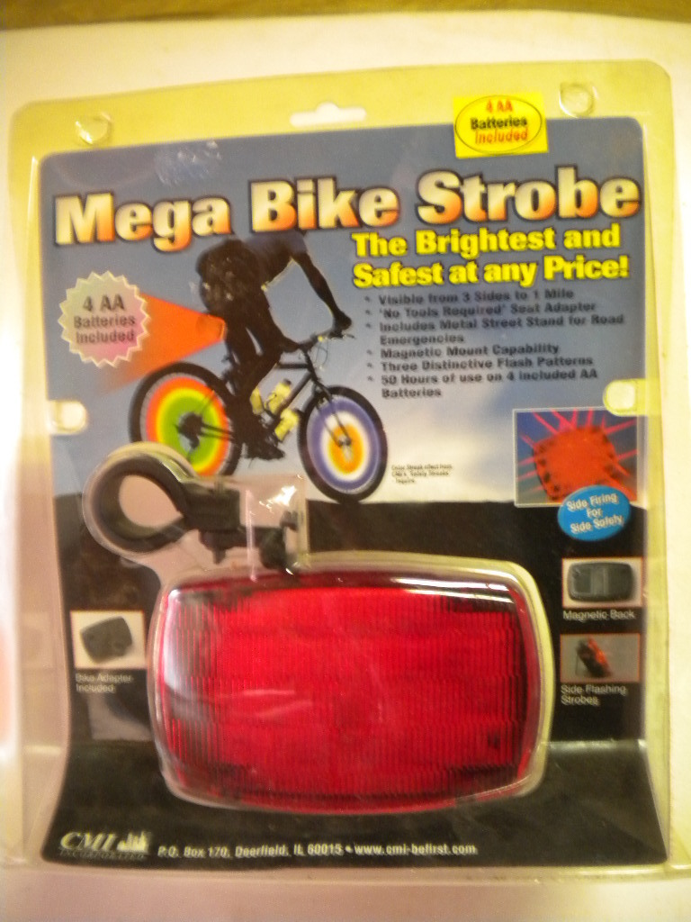 The Mega Bike Stobe flashing taillight