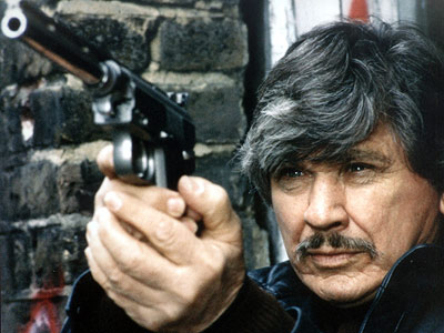 Vigilante Paul Kersey ((played by Charles Bronson)  in Death Wish