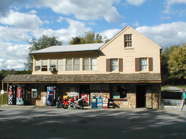 The Whites Ferry store, showing the now-removed payphone on the wall between the Coke and Pepsi machines; from http://www.onthecanal.4t.com/photo.html
