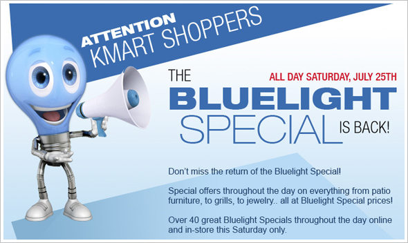an ad for KMart's Bluelight special sales