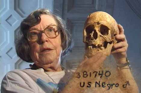 Lucille St. Hoyme, physical anthropologist (1924-2001); from  http://innercity.org/holt/skull.html