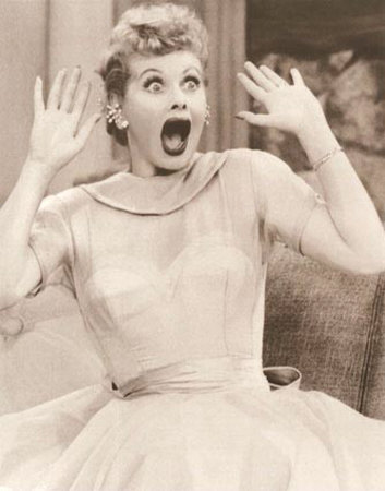 Lucille Ball, expressing surprise