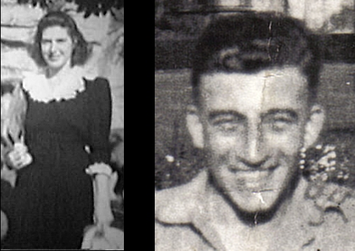 Left: Ruth Lehrer in Cincinnati, Ohio, USA, circa 1946. Right: Robert (Bob) Sumner in India, 1945.