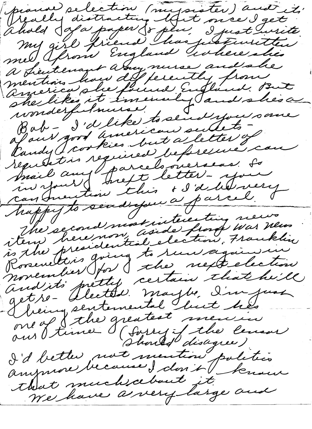 (Letter 1, Ruth to Bob, July 24, 1944, page 4 of 8)