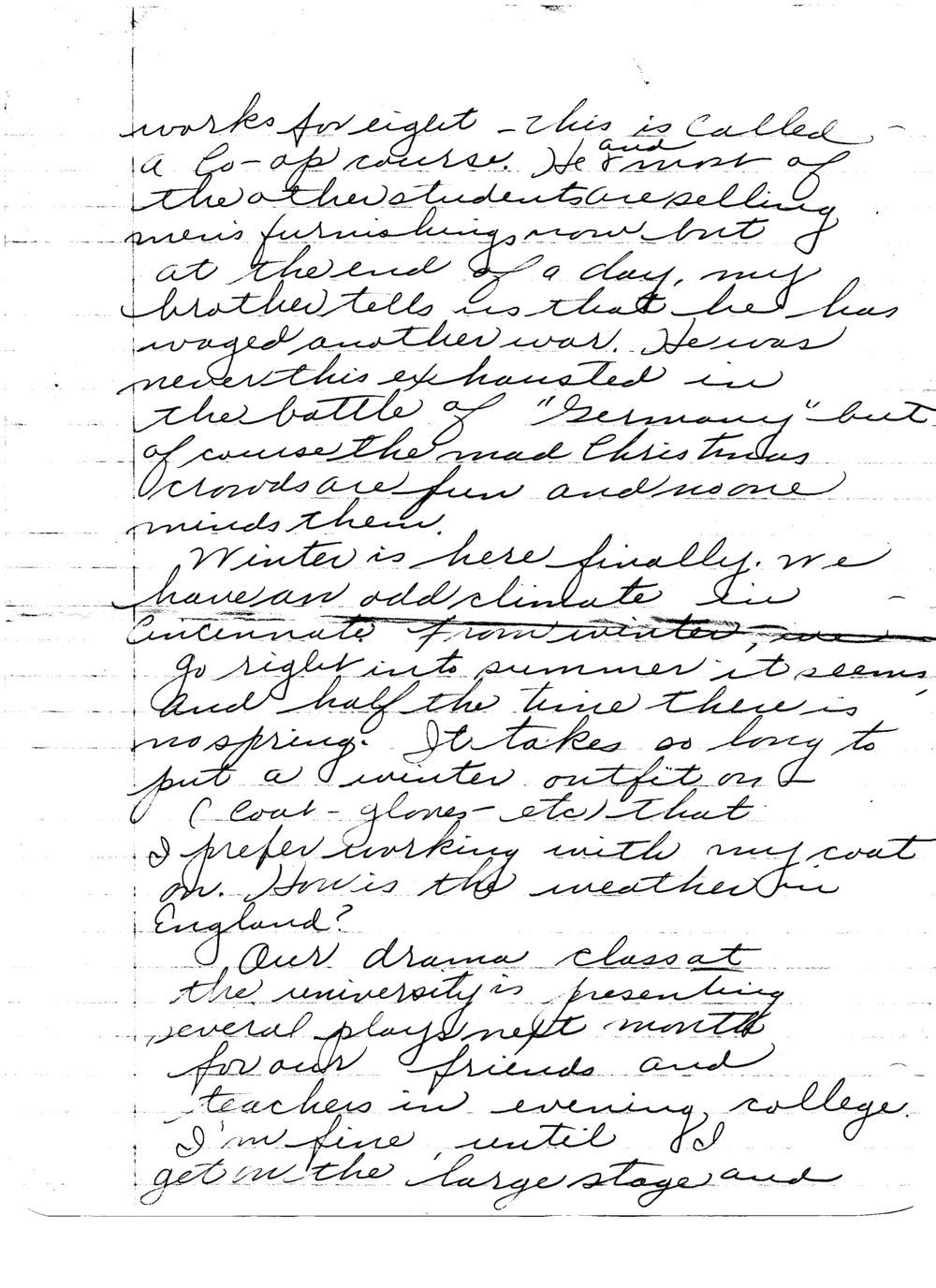 Ruth to Bob, Letter 5, December 20, 1945, page 2 of 6