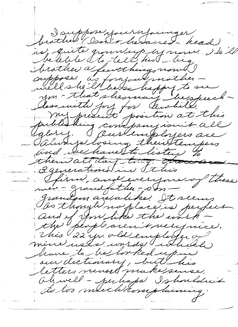 Ruth to Bob, Letter 5, December 20, 1945, page 4 of 6