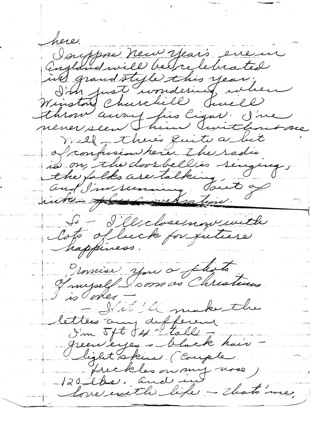 Ruth to Bob, Letter 5, December 20, 1945, page 6 of 6