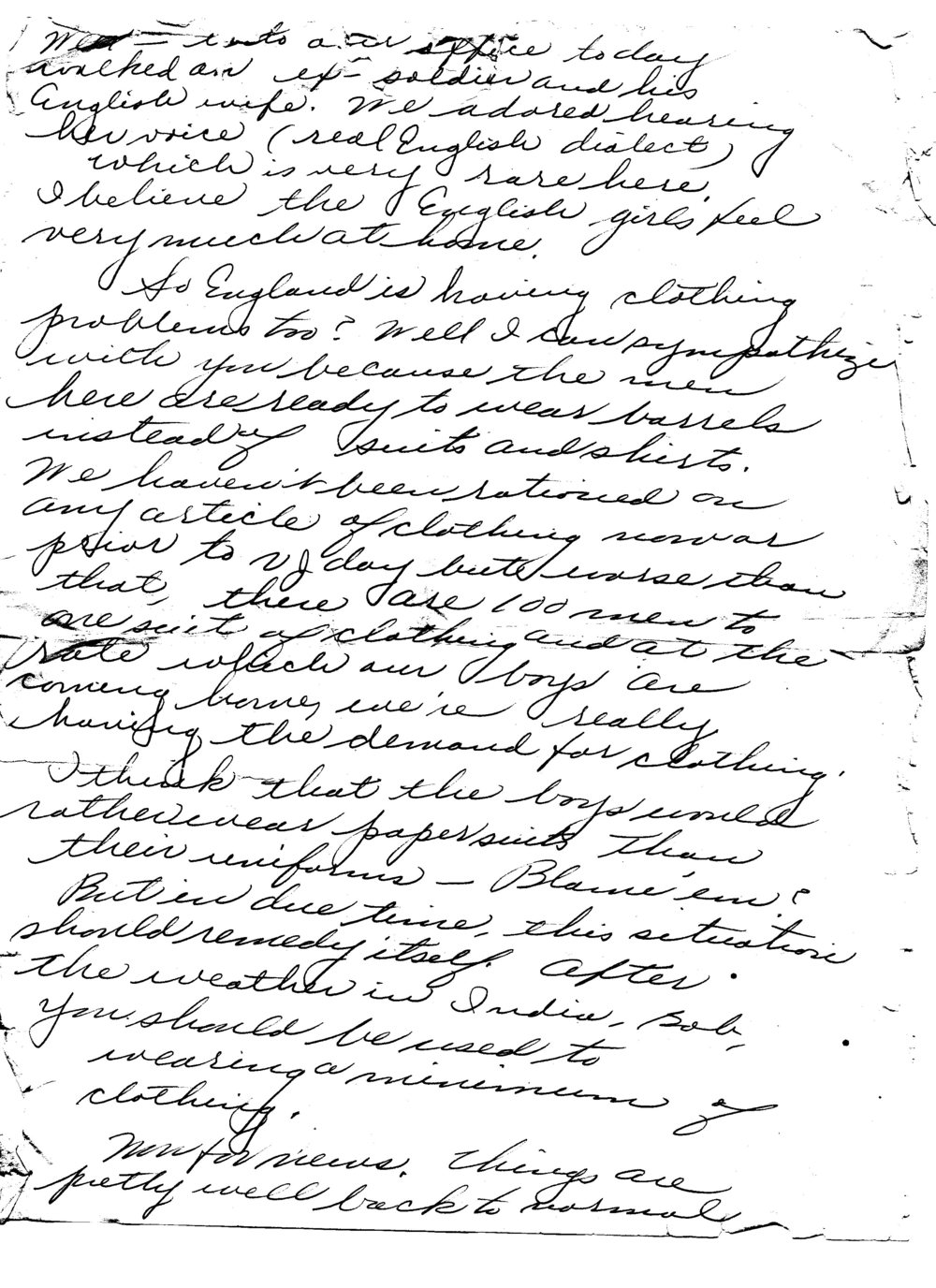 Ruth to Bob, Letter 6, February 1946, page 2 of 5