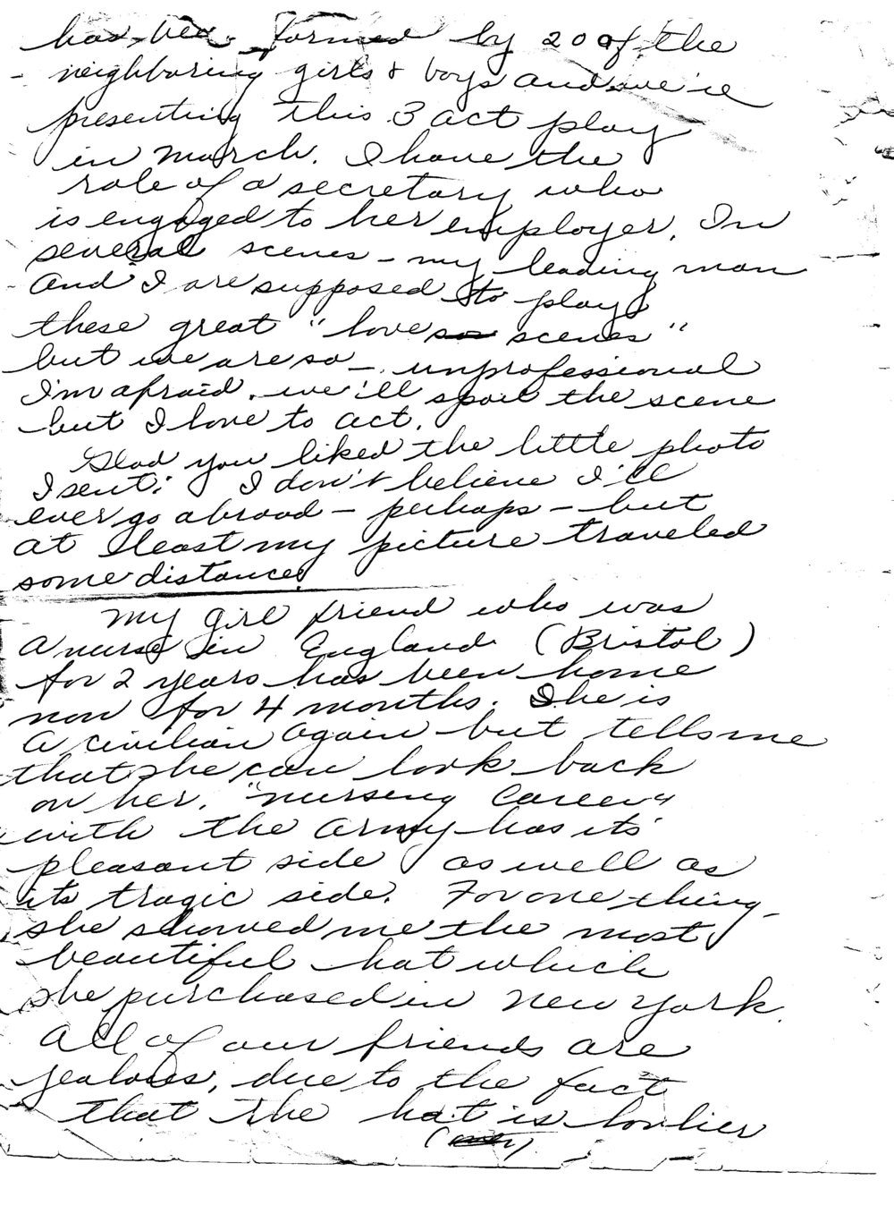 Ruth to Bob, Letter 6, February 1946, page 4 of 5