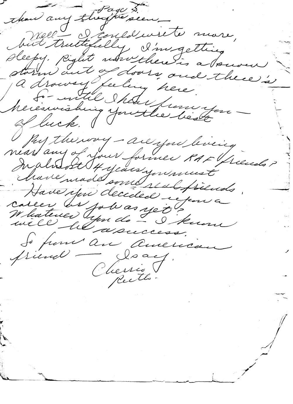 Ruth to Bob, Letter 6, February 1946, page 5 of 5
