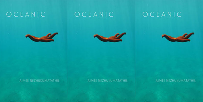 Image: Cover art for  Oceanic,  by Aimee Nezhukumatathil